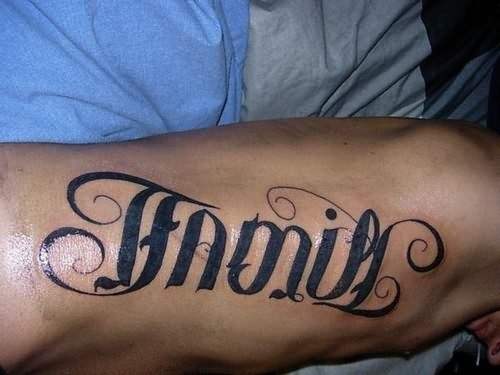 Ambigram Tattoo For Body