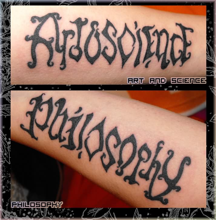 ambigram tattoo image. Black Bedroom Furniture Sets. Home Design Ideas