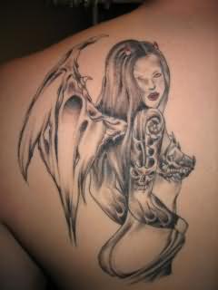 angel devil wings tattoos. Black Bedroom Furniture Sets. Home Design Ideas