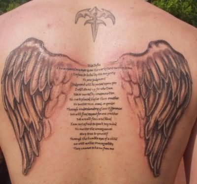 Angel Tattoo Design And Prayer
