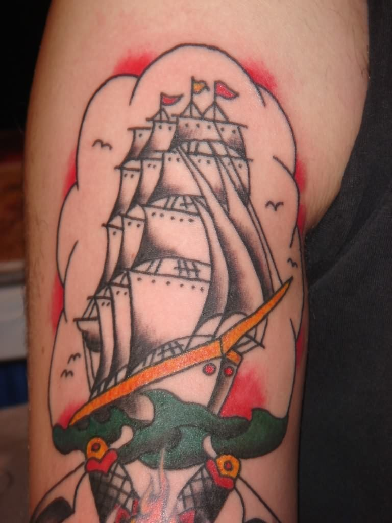 Glory Anchor Tattoo