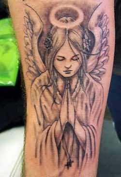 Praying tattoos of angels for Praying angel tattoos