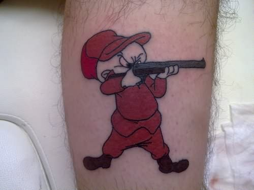 Cartoon Gun Tattoo