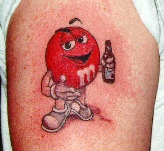 Cartoon Tattoo On Biceps