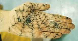 Web Spider Tattoo On Hand