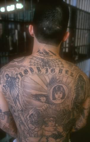 Aztec Girl Tattoo On Back