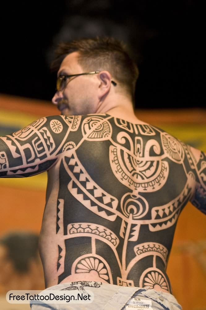 Aztec Tattoo On Full Body