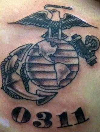 marine corps tattoo. Black Bedroom Furniture Sets. Home Design Ideas