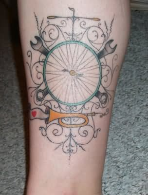 Bike tattoo images designs for Wheel of time tattoos