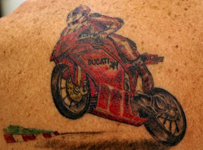 ducati motorbike tattoo. Black Bedroom Furniture Sets. Home Design Ideas