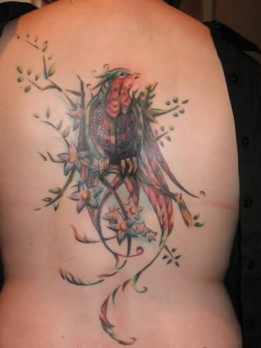 Small Bird Tattoo On Back