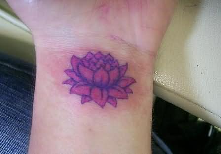 Lotus Flower Tattoo On Wrist