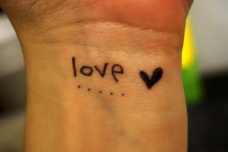 Love Tattoos Wrist on Love   Heart Tattoo On Wrist