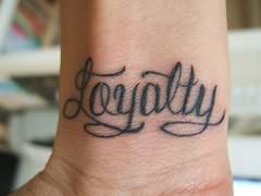 Loyalty honesty respect tattoo
