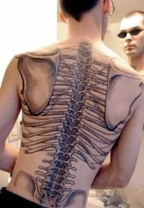 Gangsta Skeleton Tattoo On Back