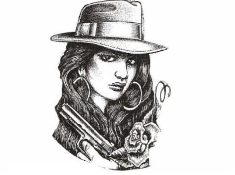 Gangsta Tattoo Images amp Designs
