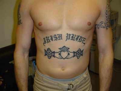 Prison  Gangsta Tattoo On Belly