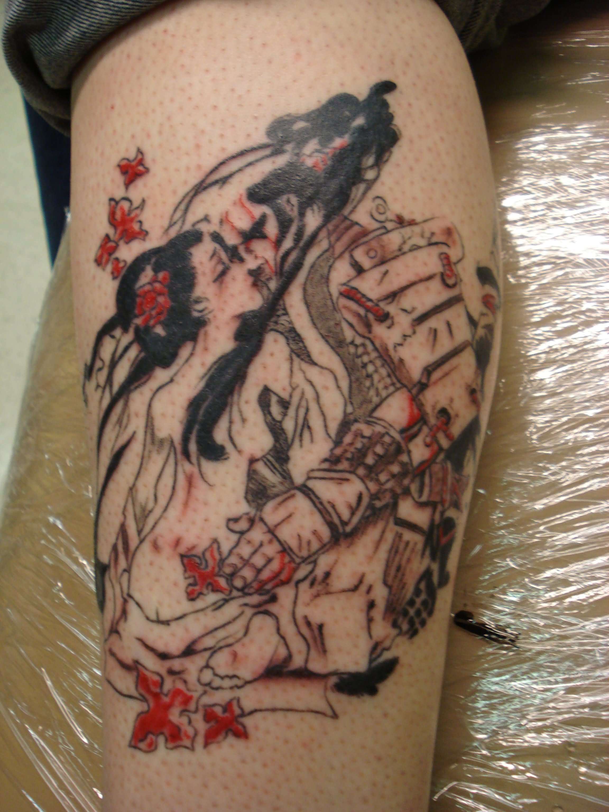 Samurai And Geisha Tattoo