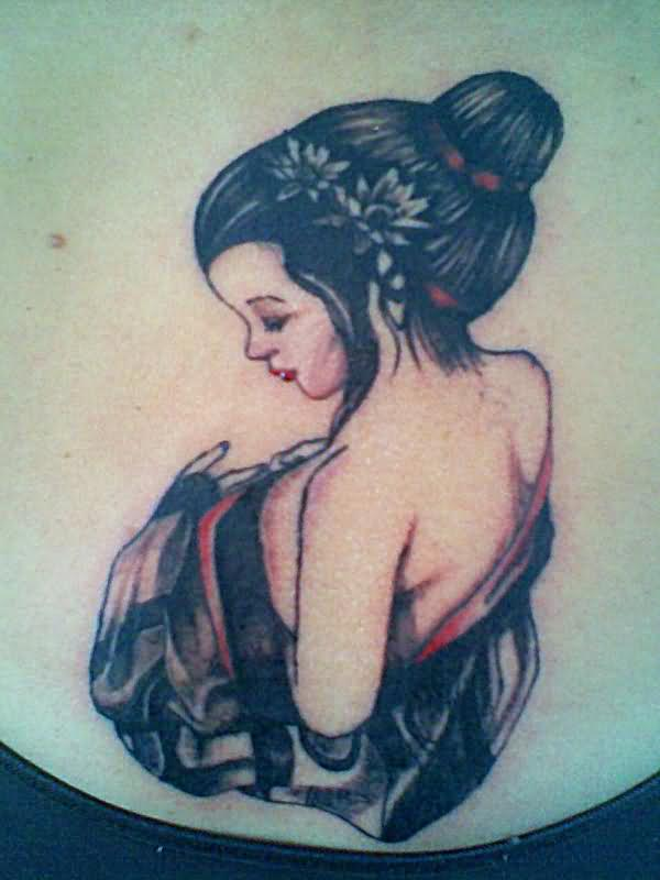 Simple Geisha Tattoo