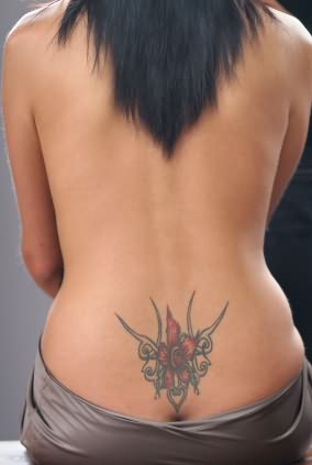 Girl Lower Waist Tattoos