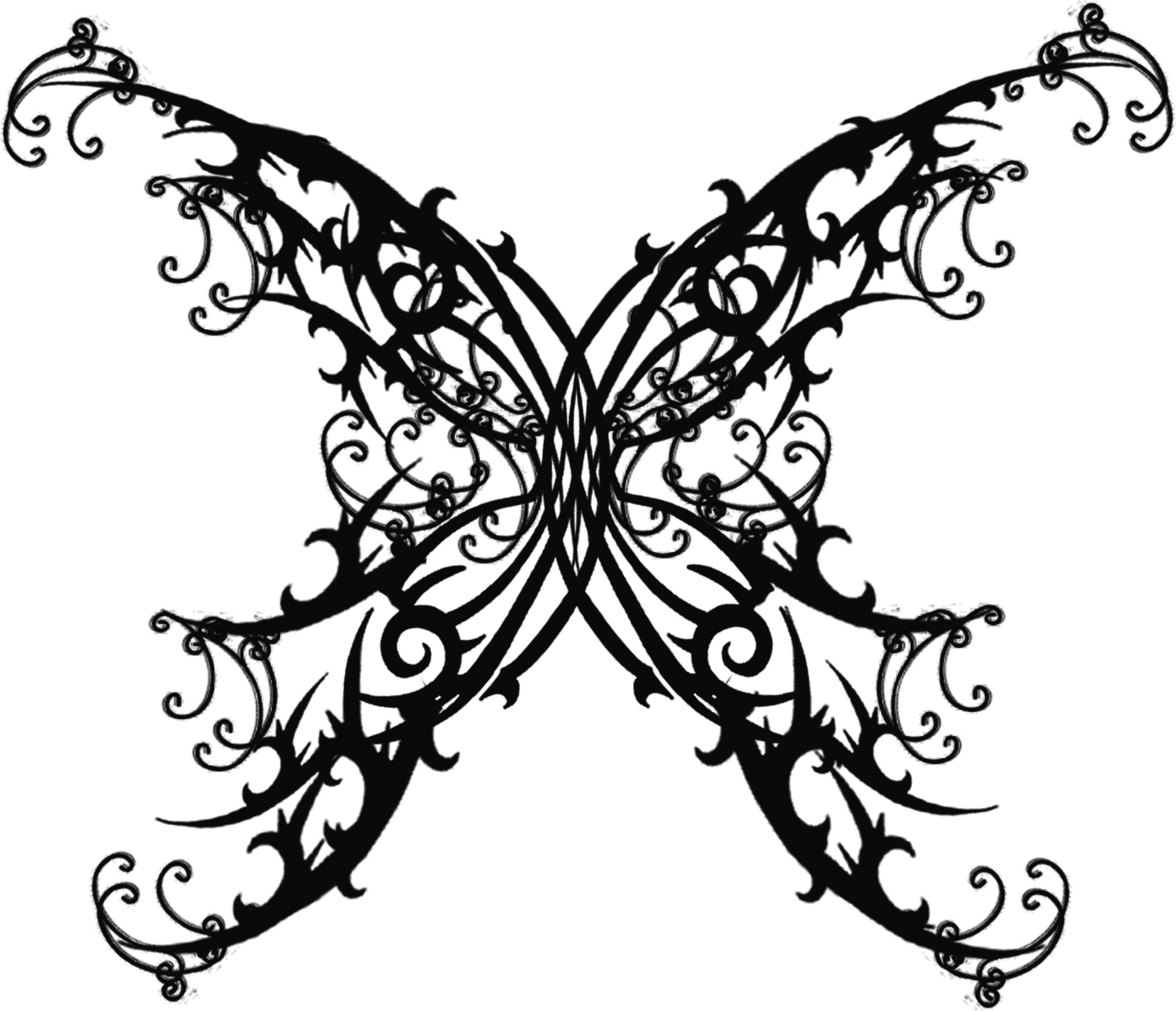Gothic Butterfly Gothic Butterfly Tattoos