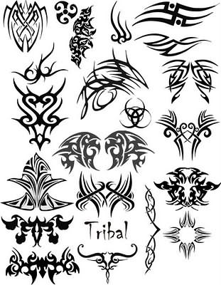 tribal vector gothic tattoo. Black Bedroom Furniture Sets. Home Design Ideas