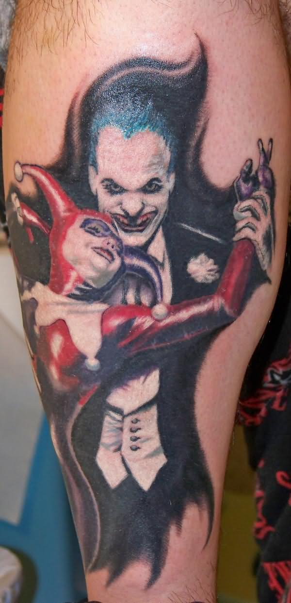 demon joker tattoos