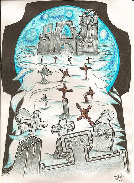 Graveyard Tattoo Designs