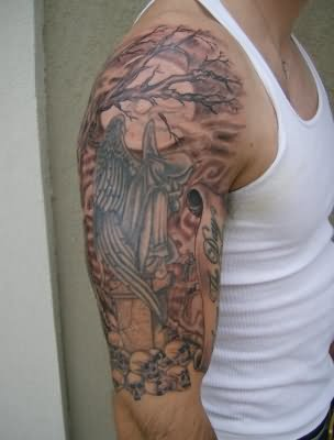 Tree tattoos on shoulder for Tree shoulder tattoo