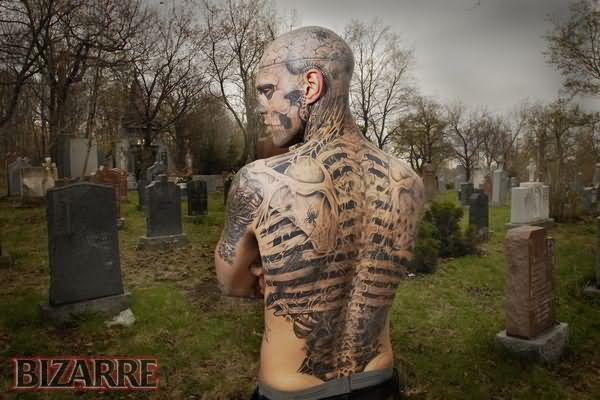 Graveyard shoulder tattoos
