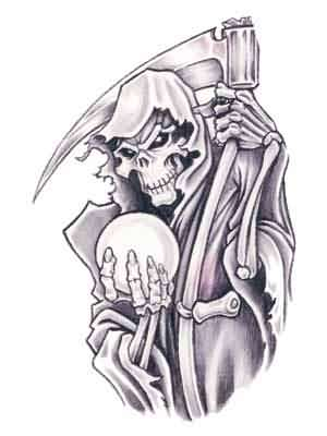 Grim Reaper Amazing Design Tattoo