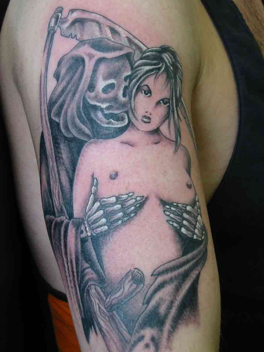 Grim Reaper Romantic Tattoo