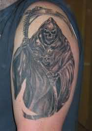 Grim Reaper Tattoo For Young