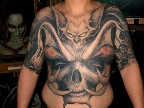 Scary Grim Reaper Tattoo For Men