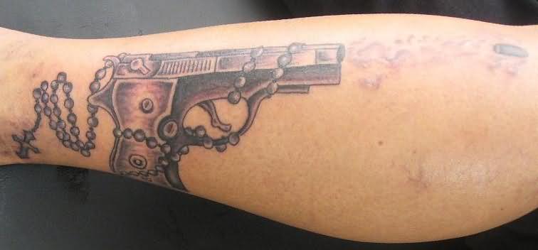 Gun tattoo images designs for Tattoo of guns
