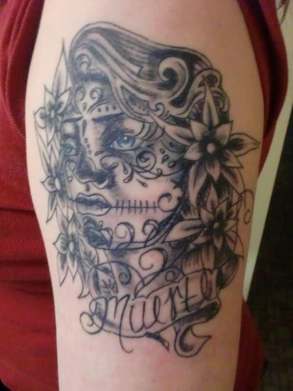 Gypsy Sugar Skull Tattoo On Bicep  Gypsy Sugar Sku...