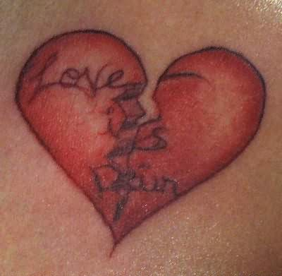 Love  Pain Tattoos on Heart Tattoos Pictures And Images   Page 8
