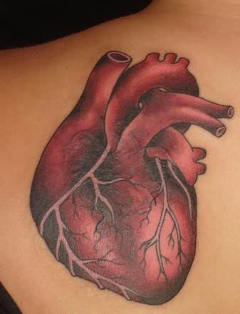 Real heart tattoo for Tattoos in the heart
