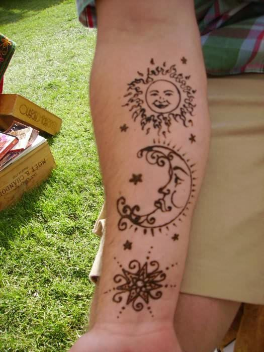 awesome henna tattoo on arm. Black Bedroom Furniture Sets. Home Design Ideas