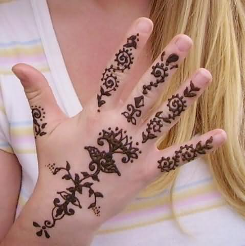 henna hand design for girls. Black Bedroom Furniture Sets. Home Design Ideas