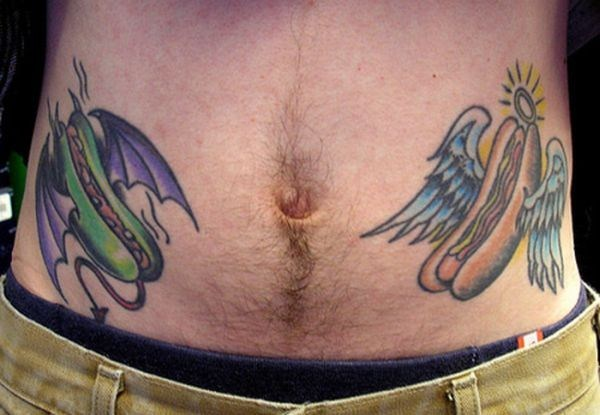 Funny Tattoo On Front