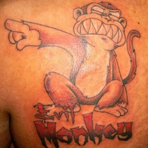 Funny Monkey Tattoo