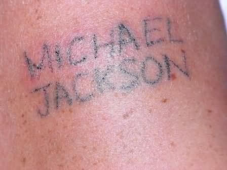 Jackson Fan - Homemade Tattoo
