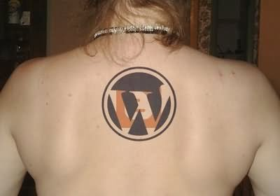 Geek WordPress Logo Tattoo