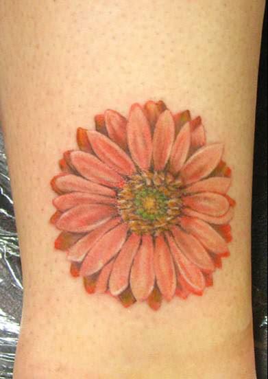 Amazing Daisy Flower Tattoo