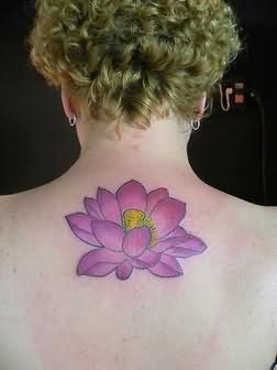 Awesome Lotus Tattoo On Back