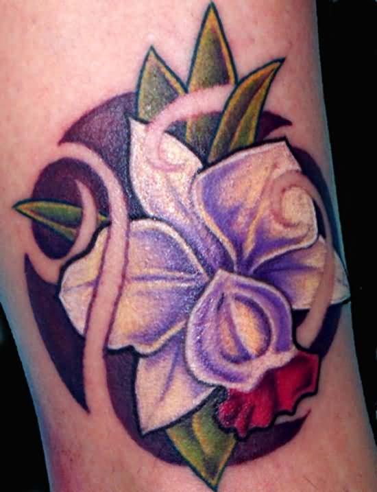 best orchid tattoo. Black Bedroom Furniture Sets. Home Design Ideas