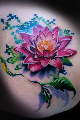 Big lotus flower tattoo mightylinksfo Image collections