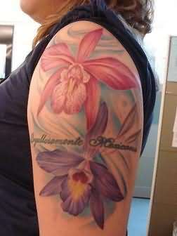 Elegant Orchid Flower Tattoo