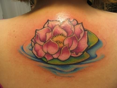 women back lotus tattoos. Black Bedroom Furniture Sets. Home Design Ideas